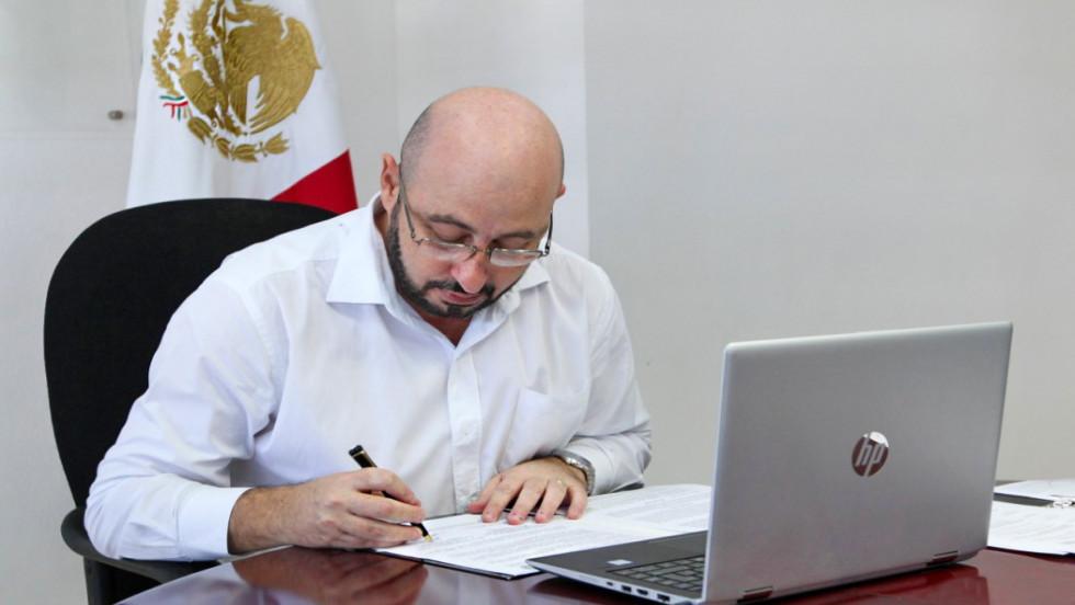 Fiscalía General de Yucatán participa en firma de convenio de cara a las elecciones