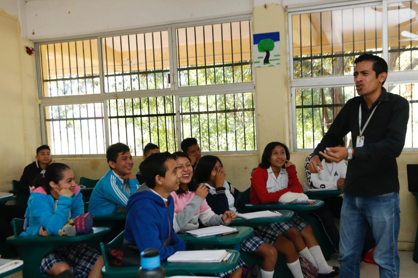 Visita a la escuela secundaria Técnica #50 ubicada en el municipio de Tekit