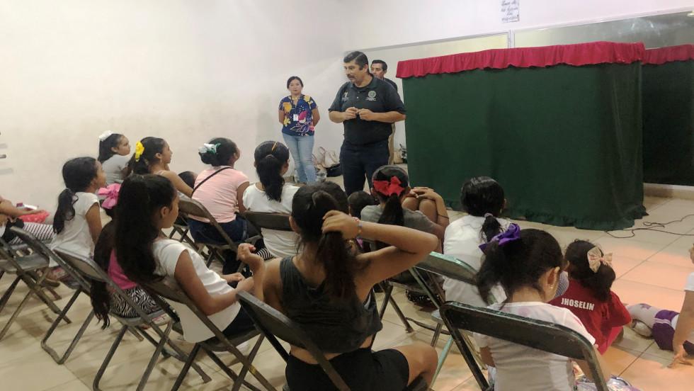Programas de prevención del delito en la Casa de la Cultura Hunucmá.