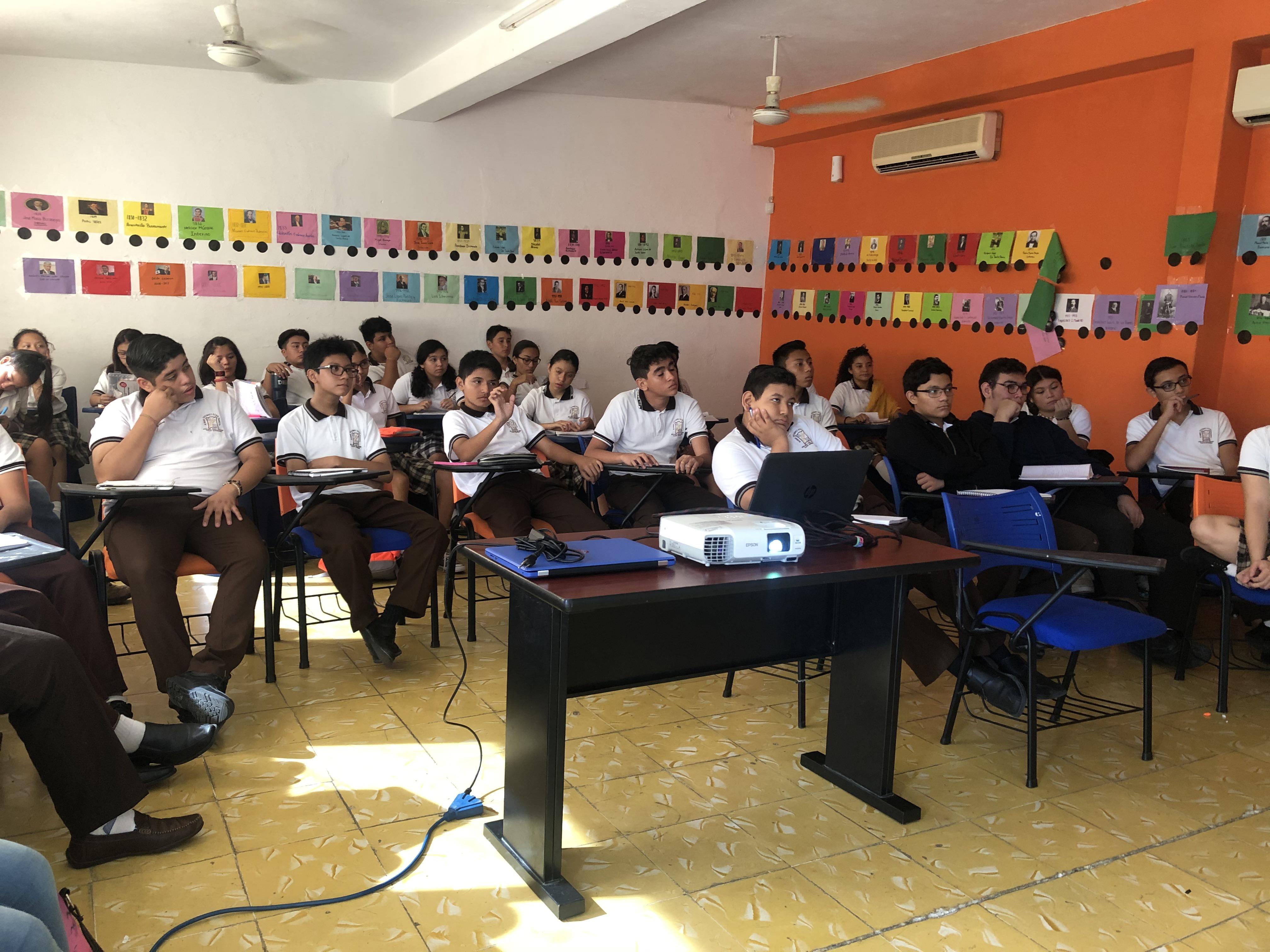 Programa Riesgos informáticos en la escuela secundaria Álvaro Vázquez Echazarreta de Mérida